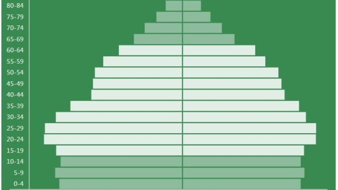 Jamaica Population Pyramid