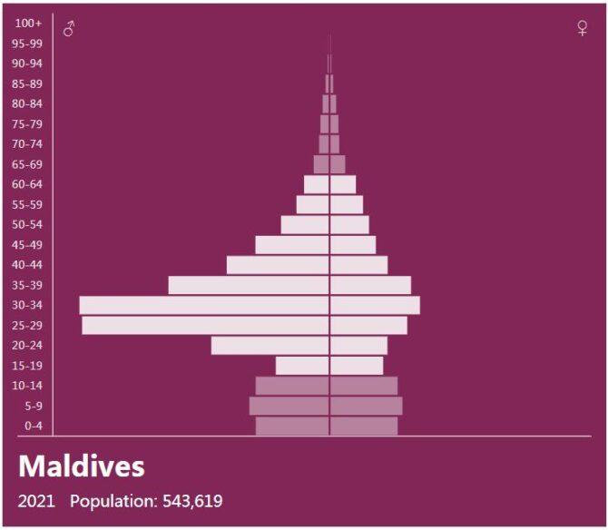 Maldives Population Pyramid