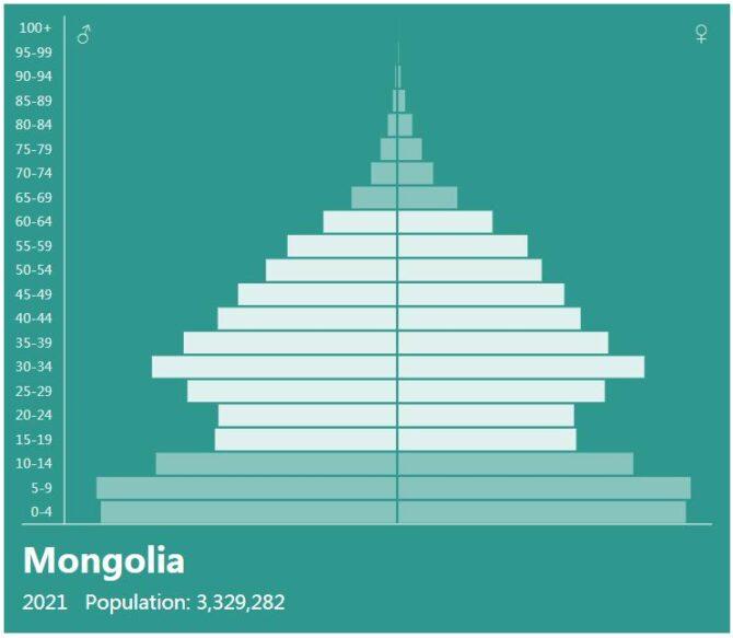 Mongolia Population Pyramid