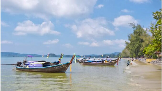 Noppharat Thara is a less popular holiday destination in Ao Nang