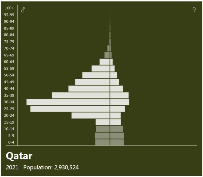 Qatar Population Pyramid