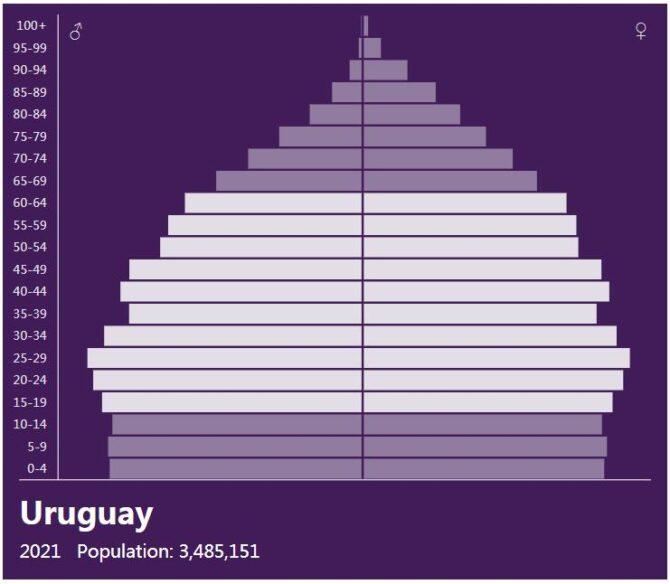 Uruguay Population Pyramid