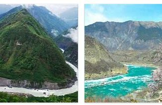 The great Yarlung Tsangpo gorge in Tibet
